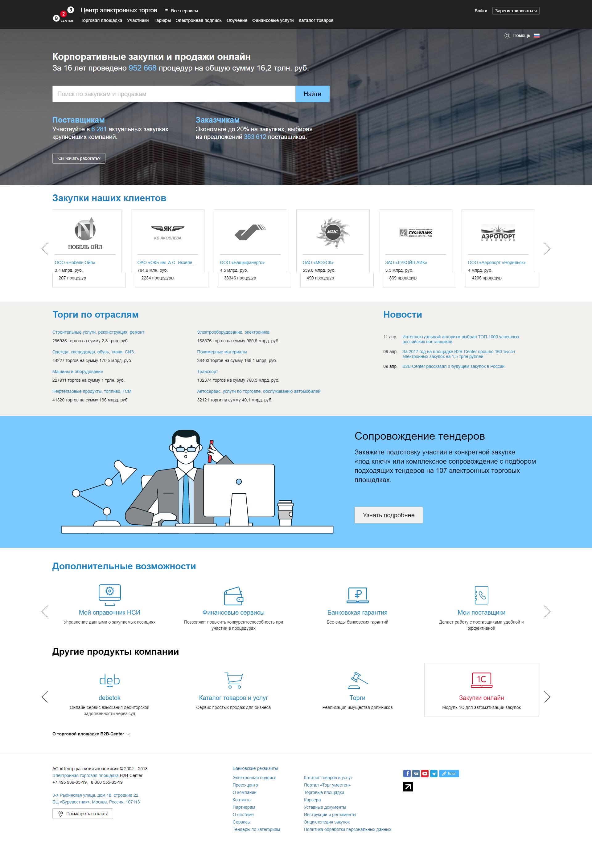 Сайт B2B